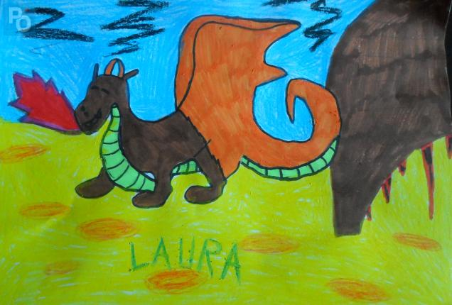 La version de Laura (14 ans) du cheval dragon
