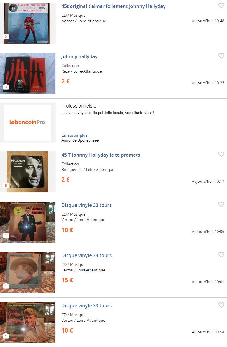 D c s de johnny sur leboncoin ou ebay les annonces se multiplient presse - Leboncoin com ile de france ...