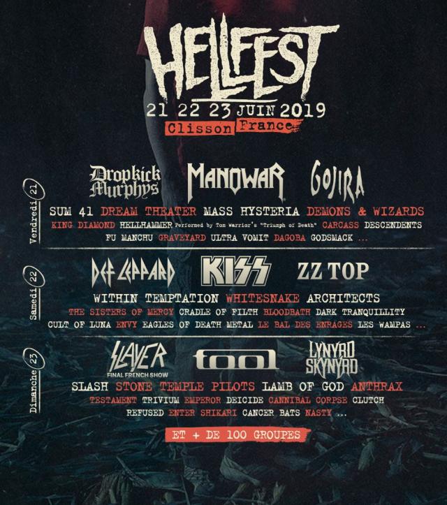 Clisson. Le Hellfest 2019 dévoilé : Kiss, Tool, Slash ou ...