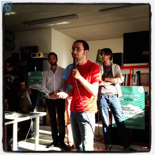 Kevin Thommy a présenté le jeu Devine O' Van, lauréat du Hackathon.