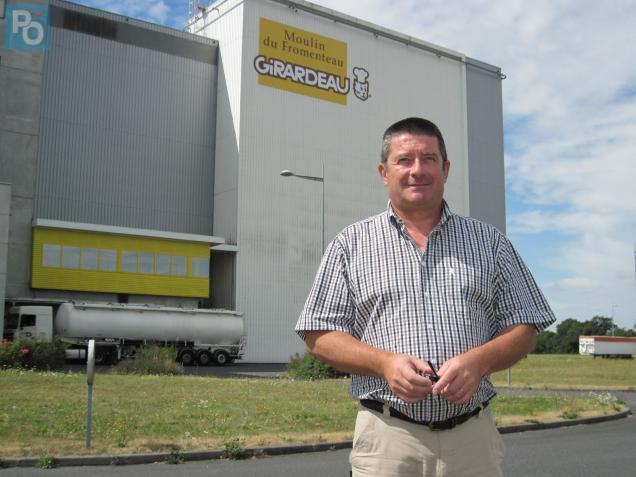 Bertrand Girardeau, PDG de la minoterie du même nom, emploie 105 personnes