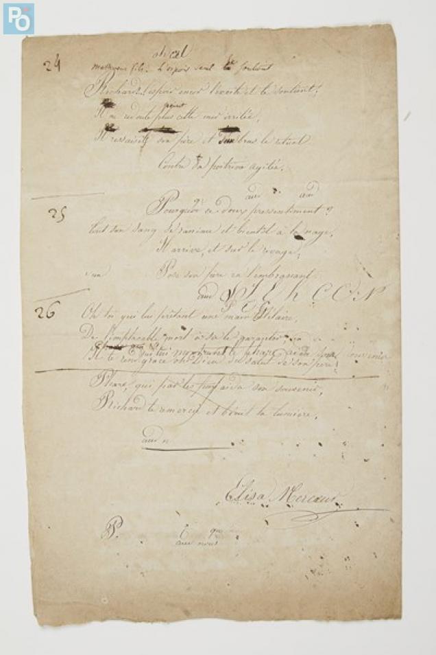 A ce manuscrit inédit sera joint une lettre, un appel au secours d'Elisa Mercoeur