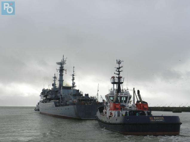 Le «Smolniy» a quittéle port à 13h30 aujourd'hui.
