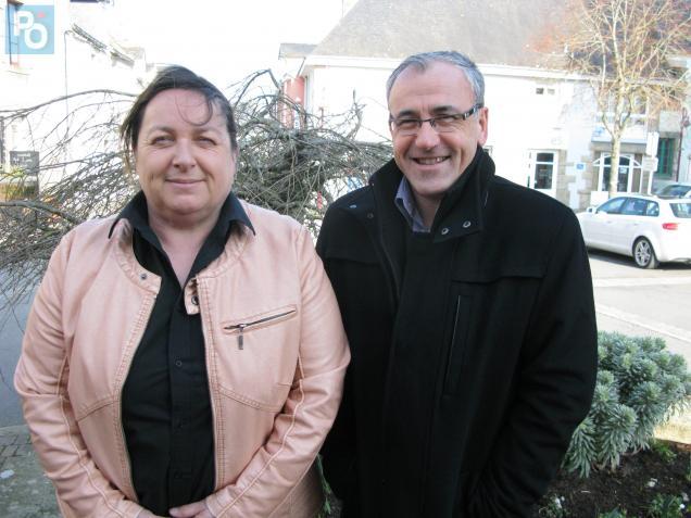 Dominique Migault et Franck Hervy (conseiller général sortant), très distancés par la droite.