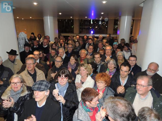 Il y avait du monde ce dimanche soir dans le hall de l'hôtel de ville de Saint-Nazaire