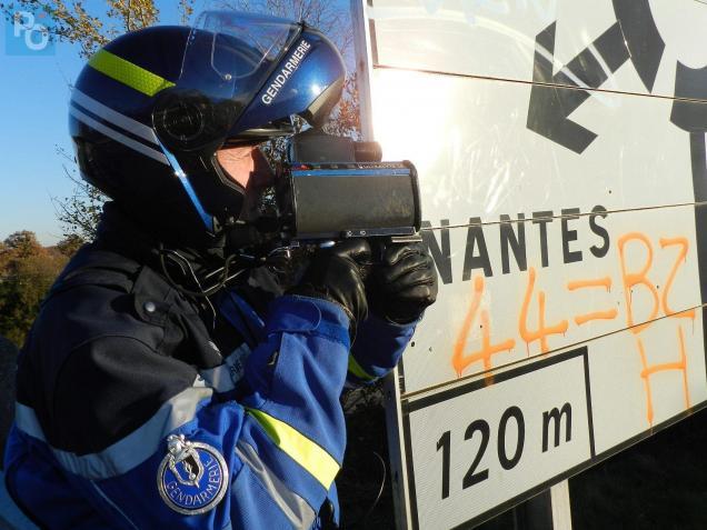 Le fuyard a été intercepté par les motards du peloton motorisé de Pontchâteau.