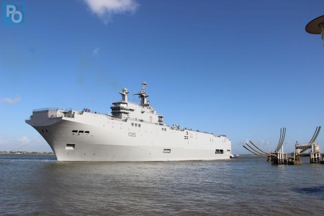 Le Caire réceptionne le second navire de guerre français Mistral