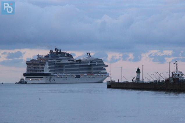 Le MSC Meraviglia a quitté Saint-Nazaire pour sa deuxième série d'essais en mer.