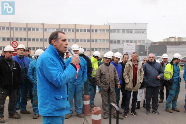 Les salariés en grève se sont retrouvés rond-point de l'Ancre.