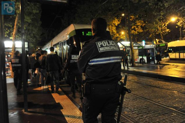 Des policiers municipaux ont interpellé le suspect allée Duguay-Trouin.