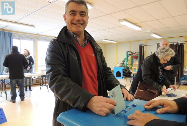 David Samzun a voté ce dimanche midi